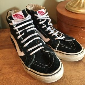 65d308f2b4 Vans Shoes - Vans Sk8 high b w old school sneakers M 5  W 6.5